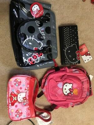 5Hello Kitty Sanrio Girls  Pink Zipper Purse/ Bag/wallet/ Back Pack/Watch!!