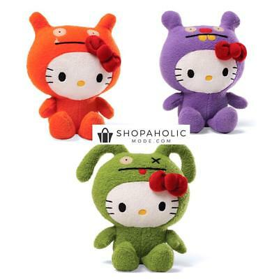 Licensed Set of 3 Hello Kitty Uglydoll OX Wage and Trunko 18cm Plush Doll