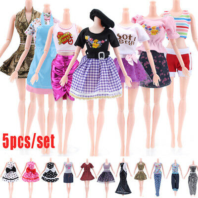 5PCS Princess Doll Dress Noble Party Gown For Barbie Doll  Outfit clothes