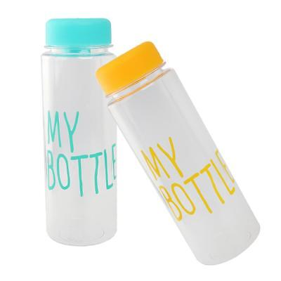 2 Pcs Clear Outdoor Sport Fruit Juice Water Cup Portable 500ML Travel Bottle