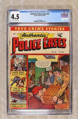 Authentic Police Cases #20 1952 CGC 4.5 1462523008