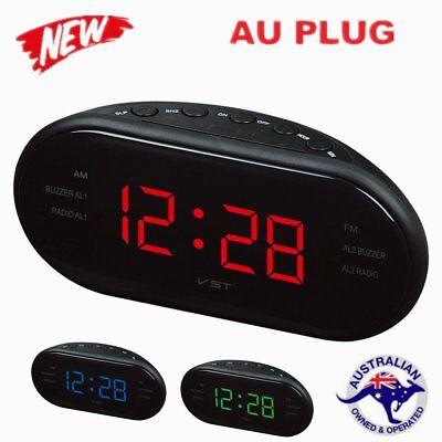 AM/FM Dual Alarm Clock Frequency Radio LED Digital Clock Luminous Snooze Clock