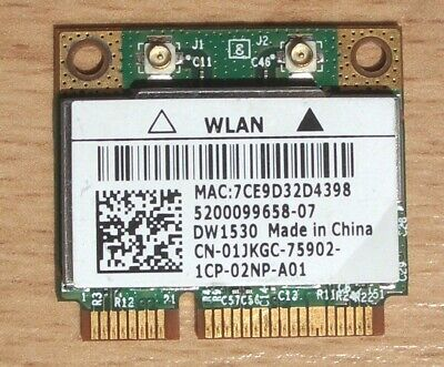 Dell Wireless WiFi DW1530 Wlan Model:BCM943228HM4L  802.11a/b/g/n 2,4GHz-5GHz