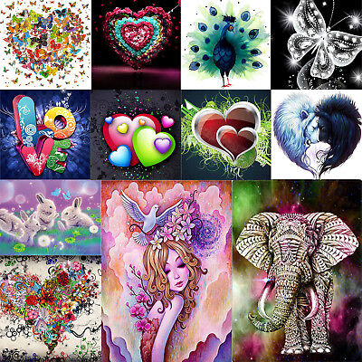 5D DIY LOVE Heart Diamond Painting Embroidery Cross Stitch Kit Mosaic Handicraft