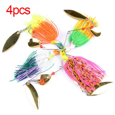 4pcs Spinnerbaits Spinner Lures Bass Barra Murray Cod Trout Redfin