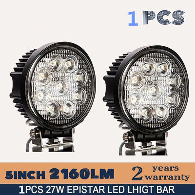 LED Work Light 4 Inch 27W For Offroad Boat Car Tractor Truck SUV ATV Flood 12V