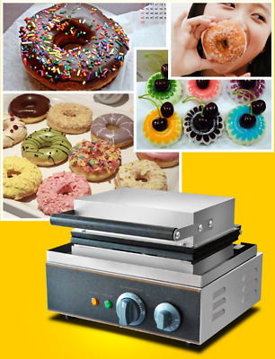 Hot Commercial Electric Sweet Donut Machine 6pcs Doughnut Fryer Waffle Maker