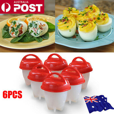 Egglettes Egg Cooker Hard Boiled Eggs without the Shell 6 Egg Cups ON