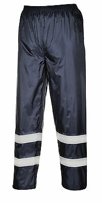 Waterproof Trousers  Hi-Vis Tape Lightweight Rain Over pants Portwest  F441