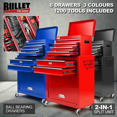 NEW BULLET 1200 Piece Tool Kit Cabinet Chest Trolley Toolbox Metric Tool Box Set