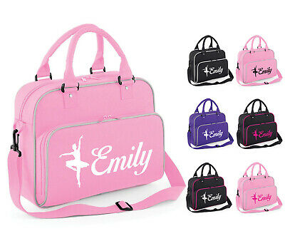 Personalised Womens Girls Ballet Shoulder Dance Bag School Gym Kit