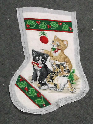 Needle Treasures Christmas Kittens Stocking #06866