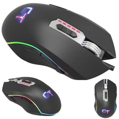 MOUSE GAMING CTesports KROM SILVER 5000 12000 DPI LED RAINBOW 11 TASTI
