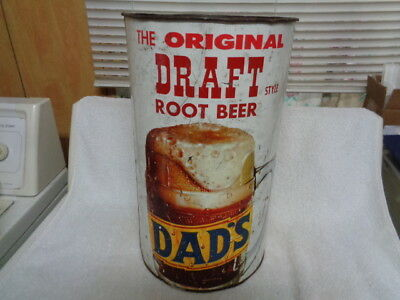 Large Vtg Dad's The Original Draft Style Root Beer Promotional Soda Pop Can Sign