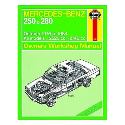 Livre MERCEDES 250 & 280 76-84 owners workshop manual / Haynes