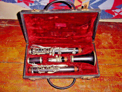 VINTAGE MAESTRO WOOD CLARINET  FRENCH 30s GIBSON CLARINET GRENADILLA WOOD