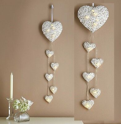 Led light hanging hearts wall lights romantic love fairy lights new led light hanging hearts wall lights romantic love fairy lights new boxed aloadofball Choice Image