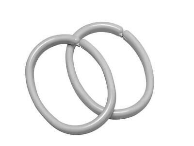 Sealskin Shower Curtain Ring GREY PACK OF 12