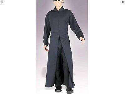 f5aef84ae12e The Matrix Neo Cybe Man Halloween Party Adult Mens Fancy Costume,Robe Harry  Pott