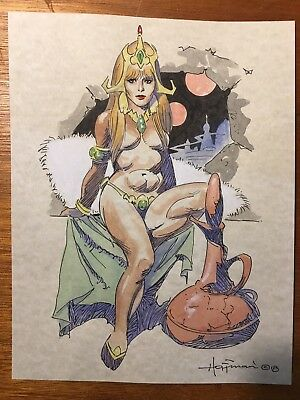 MIKE HOFFMAN COMMISSION COLOR DRAWING ON PARCHMENT PAPER! Choose the Character!