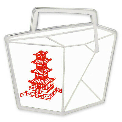 PinMart's Chinese Food Take Out Container Box Culinary Enamel Lapel Pin