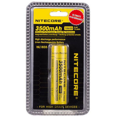 NEW Genuine NITECORE 18650 NL1835 3500 mah Rechargeable Battery Li-ion Protected