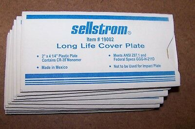 "Sellstrom Item 19002,  Long Life Cover Plate Welding Mask 2"" x 4-1/4 in 11 Each"