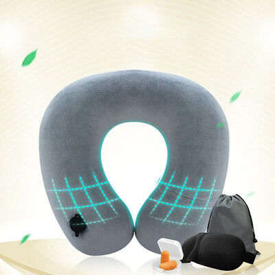 Travel Multi-purpose Portable Inflatable Flight Pillow Neck U Rest Air Cushion