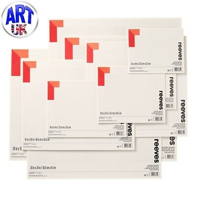 Reeves Artists CANVAS BOARD oil/acrylic colour painting 100% cotton ground