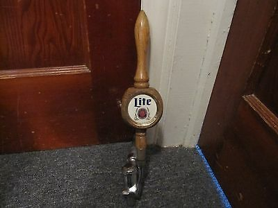 Miller Lite Beer Tap 3 Sided Wooden Pull Handle