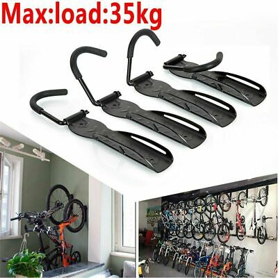 4x Steel Bike Rack Stand Storage Wall Mounted Hook Hanger Bicycle Holder Hanging