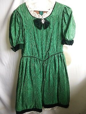 Green Vintage Dress, size 16 Great for Plays/Theatre or Photo Ops