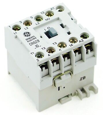 NEW GE Miniature Din Rail Magnetic Contactor CR6ZBV 12VDC Coil CA4-9C-10-12D 1NO