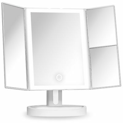 Fancii Trifold Vanity Mirror With Led Lights Lighted Makeup Mirror