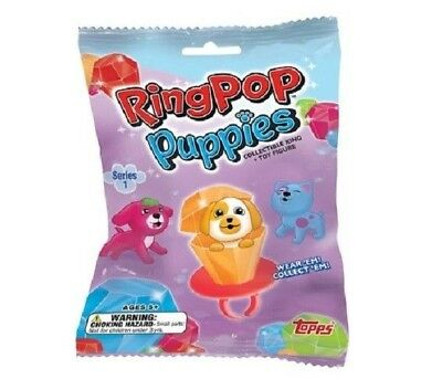 2018 Topps Ring Pop Puppies Blind Bag Pack - Ring & Toy Figure