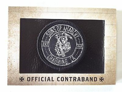 """Sons of Anarchy - Official Contraband - """"Charming"""" - Replica Patch Card"""