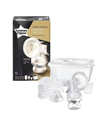 Manual Breast Pump Baby Feeding Travel Compact Tommee Tippee BPA Free