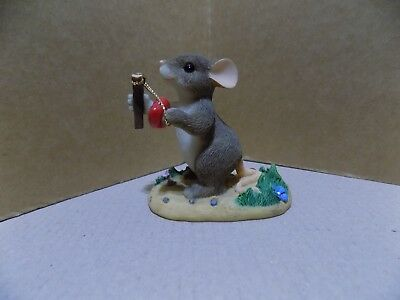 Fitz & Floyd CHARMING TAILS Mouse Figurine GIVE LOVE A SHOT 84/109 Valentine's