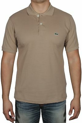 9e0d0b11 Lacoste Men's Short Sleeve Classic Cotton Pique Polo Shirt L1212-51 VDW  Beige