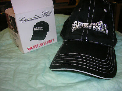 Ball cap/in the box/Canadian Club Whisky
