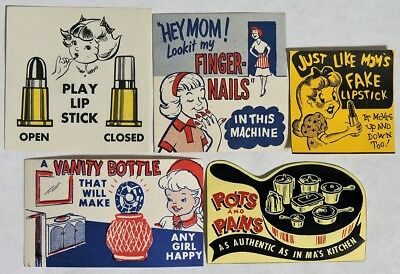 """S434. VINTAGE: Lot of 5: VENDING MACHINE """"LIKE MOM"""" Ad Pieces (c. 1960's) ~~"""