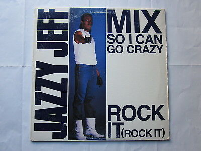 """Electro Old School Hip-Hop 80's Rap 12""""-Jazzy Jeff-Mix So I Can Go Crazy-US Jive"""