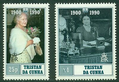 Tristan da Cunha Scott #480-481 MNH Queen Mother's 90th Birthday CV$6+