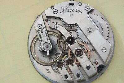 high grade pocket watch movement j.c working very rare 43mm