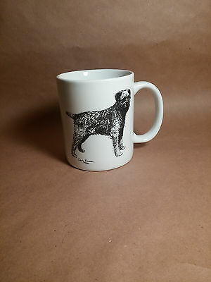 Border Terrier Dog Mug Hand Decorated Cindy Farmer Rosatinde Mug Usa 1986 Unused