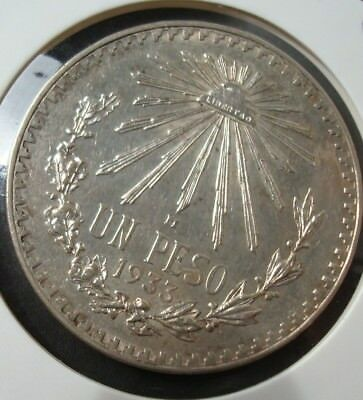 Mexico $1 Peso Silver 720 1933 Spectacular Coin please see the coin