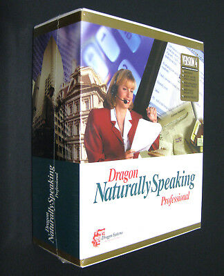 Dragon Naturally Speaking PROFESSIONAL (New in Box) Speech to Text Software NWT
