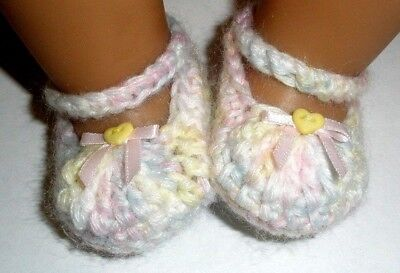 Pastel multi Mary Jane booties/shoes/slippers - Dolls Clothes for Baby Born