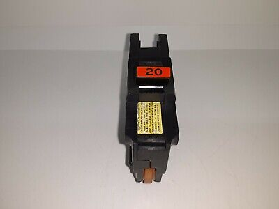FPE NA120 20 Amp 1-Pole Stab-Lok Type NA Thick Federal Pacific Breaker RED