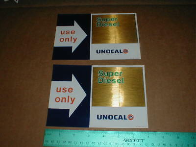 2 Unocal Union 76 gas station original vtg 1988 new Super Diesel decal sticker